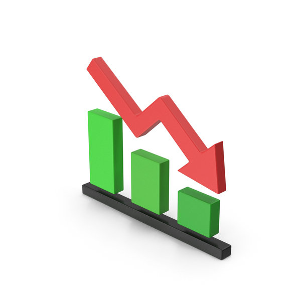 Line Chart: Symbol Graph Down Red Green PNG & PSD Images