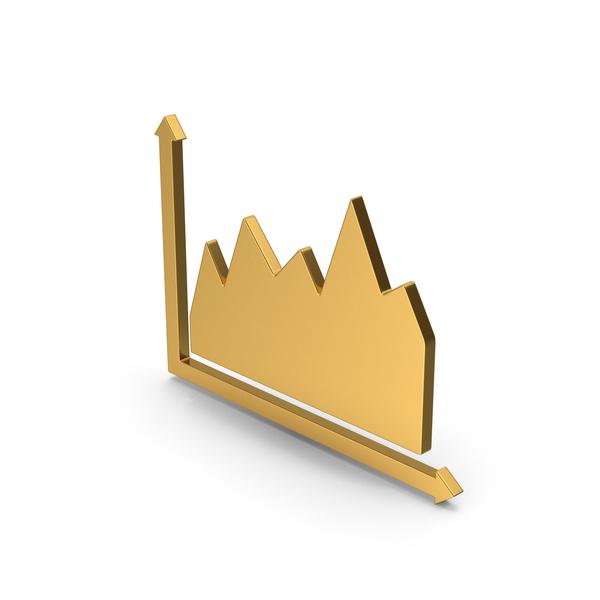 Pie Chart: Symbol Graph Gold PNG & PSD Images