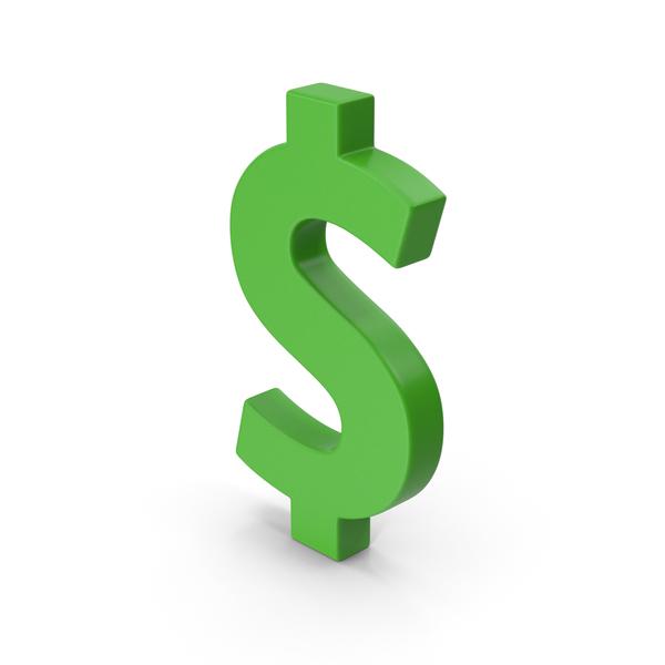 Sign: Symbol Green Dollar PNG & PSD Images