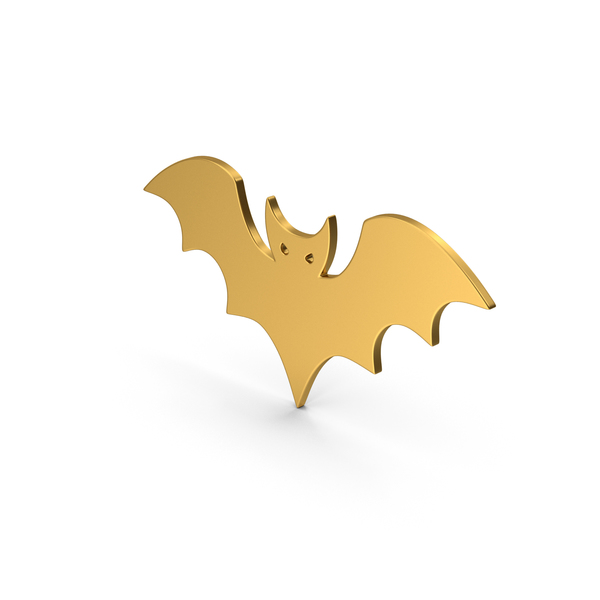 Computer Icon: Symbol Halloween Bat Gold PNG & PSD Images