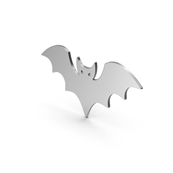 Cartoon: Symbol Halloween Bat Silver PNG & PSD Images