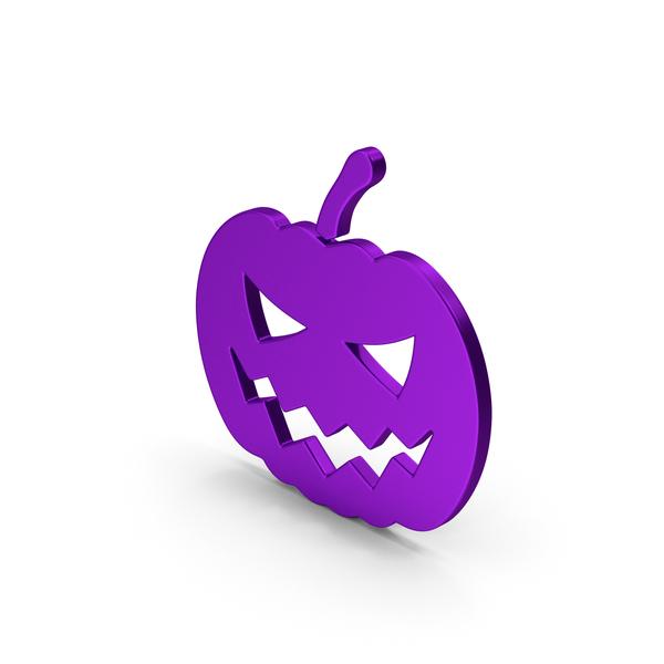 Symbols: Symbol Halloween Pumpkin Purple PNG & PSD Images