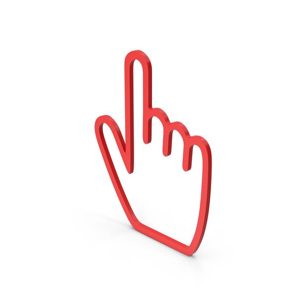 Symbol Hand Cursor Red PNG & PSD Images