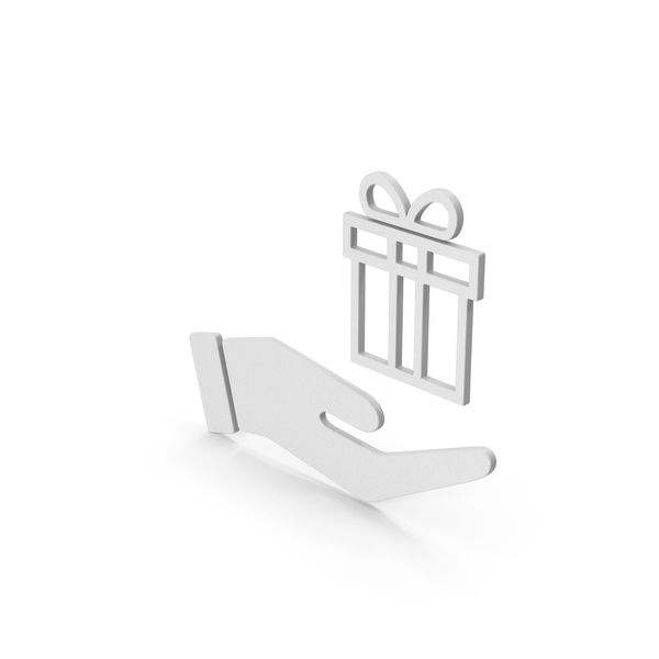 Computer Icon: Symbol Hand Holding Gift PNG & PSD Images