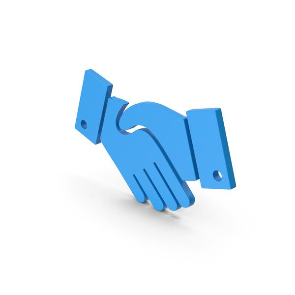 Computer Icon: Symbol Handshake Blue PNG & PSD Images