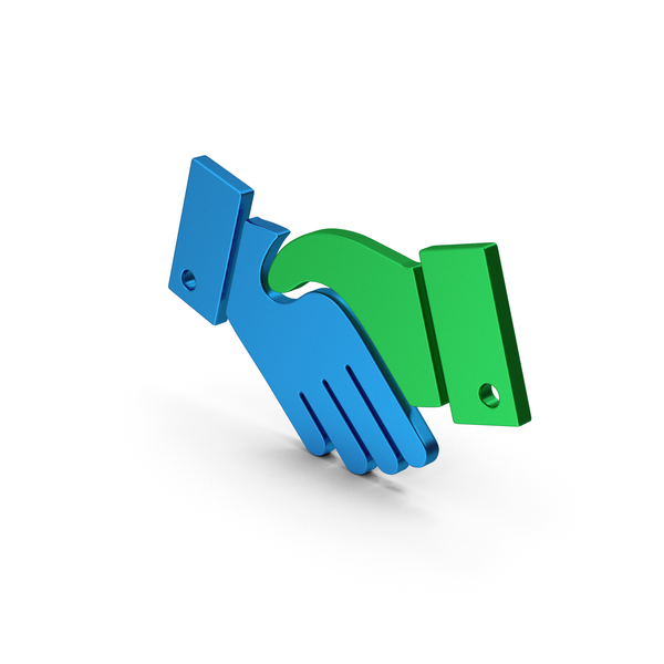 Computer Icon: Symbol Handshake Colored Metallic PNG & PSD Images