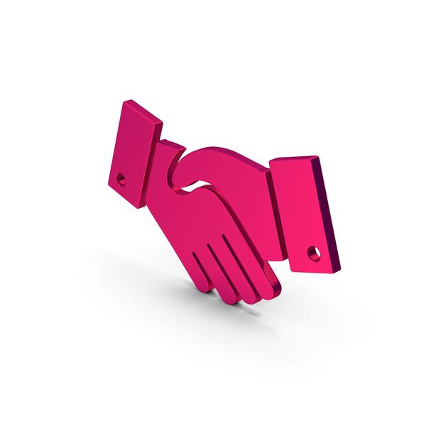 Computer Icon: Symbol Handshake Metallic PNG & PSD Images