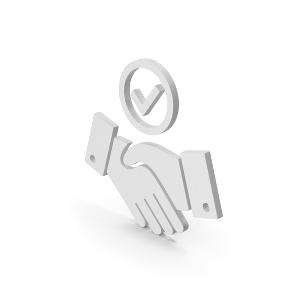Computer Icon: Symbol Handshake With Checkmark PNG & PSD Images