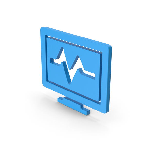 Computer: Symbol Health Monitor Blue PNG & PSD Images