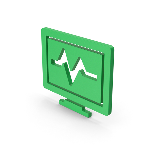 Computer: Symbol Health Monitor Green PNG & PSD Images