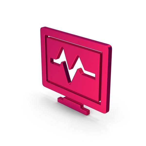 Computer: Symbol Health Monitor Metallic PNG & PSD Images