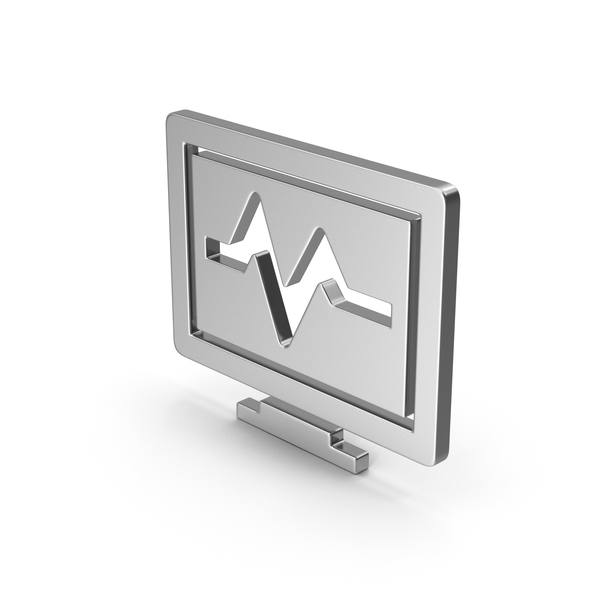 Computer: Symbol Health Monitor Silver PNG & PSD Images