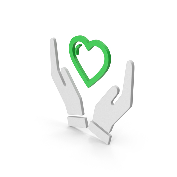 Heart Shaped Candy: Symbol Heart In Hands Green PNG & PSD Images
