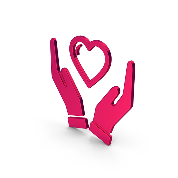 Heart Shaped Candy: Symbol Heart In Hands Metallic PNG & PSD Images