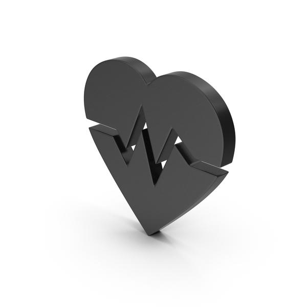 Heart Shaped Candy: Symbol Heart Medicine Black PNG & PSD Images