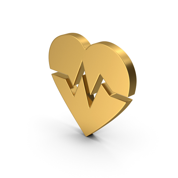Heart Shaped Candy: Symbol Heart Medicine Gold PNG & PSD Images