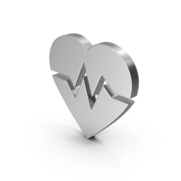 Shape: Symbol Heart Medicine Silver PNG & PSD Images
