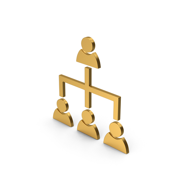 Industrial Equipment: Symbol Hierarchical Organization Gold PNG & PSD Images