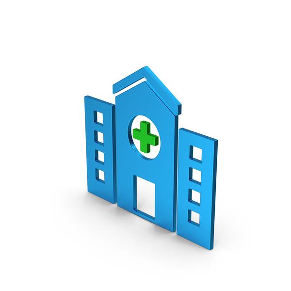 Symbols: Symbol Hospital Colored Metallic PNG & PSD Images
