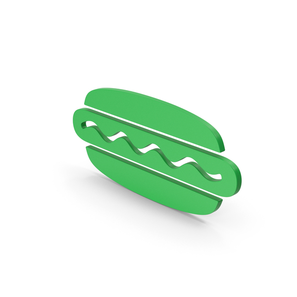 Computer Icon: Symbol Hot Dog Green PNG & PSD Images