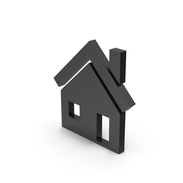 Symbols: Symbol House Black PNG & PSD Images