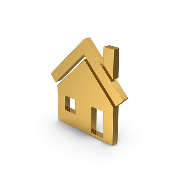 Symbols: Symbol House Gold PNG & PSD Images