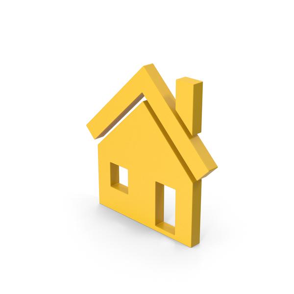 Symbols: Symbol House Yellow PNG & PSD Images