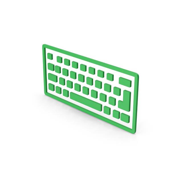 Computer: Symbol Keyboard Green PNG & PSD Images