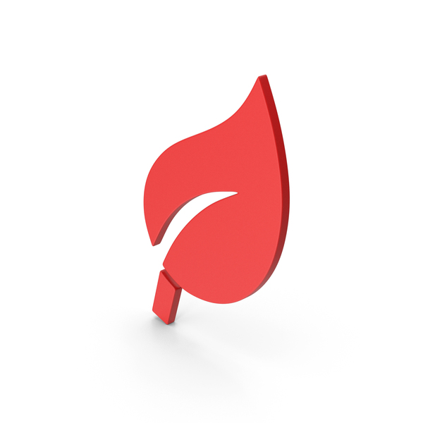 Computer Icon: Symbol Leaf Red PNG & PSD Images