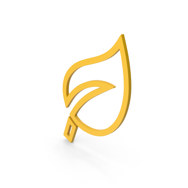 Computer Icon: Symbol Leaf Yellow PNG & PSD Images