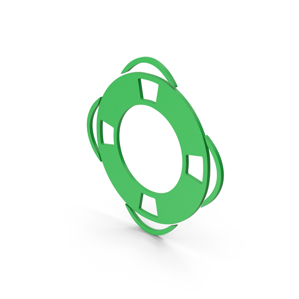 Computer Icon: Symbol Life Saver Green PNG & PSD Images