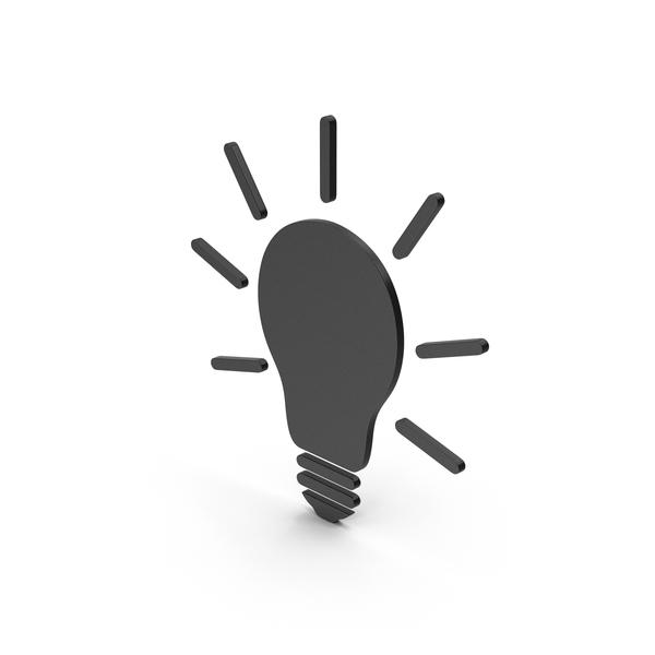 Symbols: Symbol Light Bulb Black PNG & PSD Images