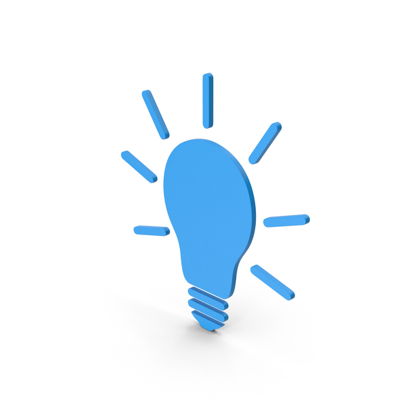 Symbols: Symbol Light Bulb Blue PNG & PSD Images
