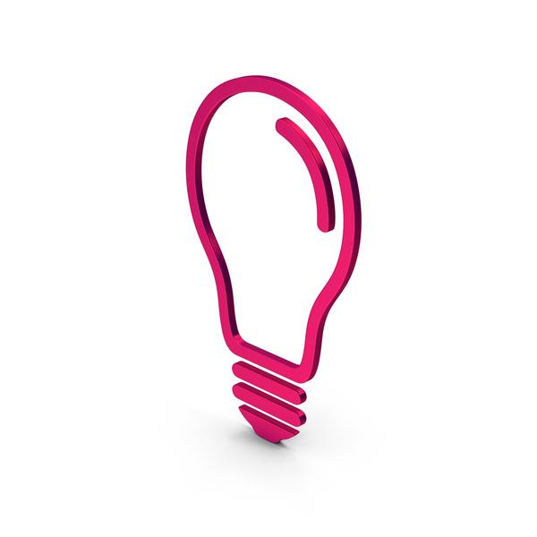 Symbols: Symbol Light Bulb Metallic PNG & PSD Images