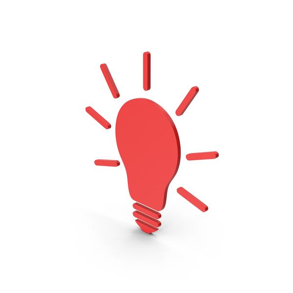 Symbols: Symbol Light Bulb Red PNG & PSD Images