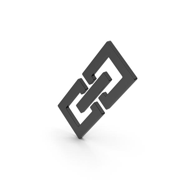 Symbol Link Chain Black PNG & PSD Images