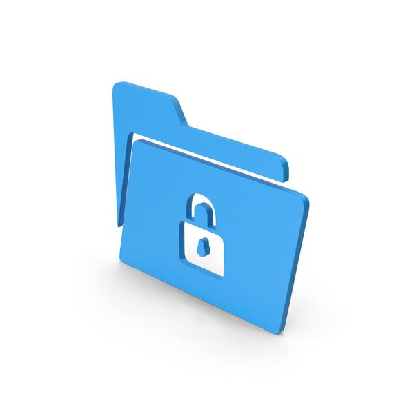 Logo: Symbol Locked File Folder Blue PNG & PSD Images
