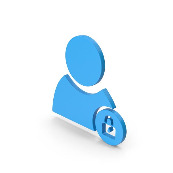 Lock: Symbol Locked User Blue PNG & PSD Images