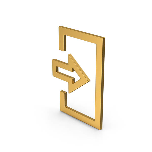Computer Icon: Symbol Login Gold PNG & PSD Images