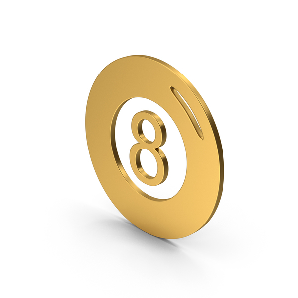Computer Icon: Symbol Magic 8 Ball Gold PNG & PSD Images