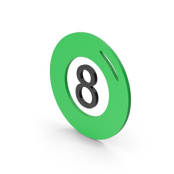 Computer Icon: Symbol Magic 8 Ball Green PNG & PSD Images