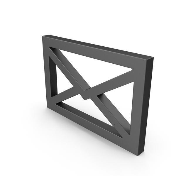 Symbol Mail Envelope Black PNG & PSD Images
