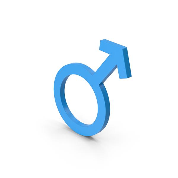 Symbol Male Blue PNG & PSD Images