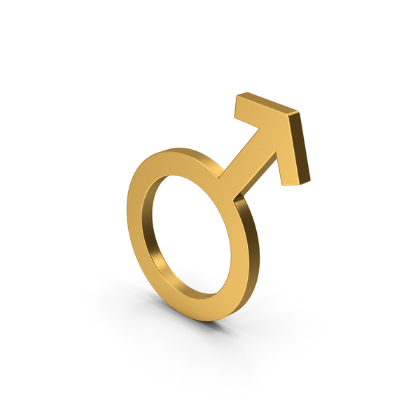Symbol Male Gold PNG & PSD Images