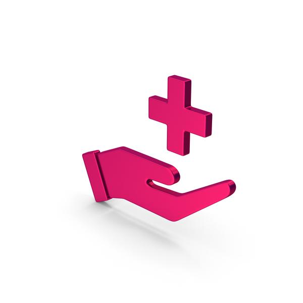 Caduceus: Symbol Medical Cross In Hand Metallic PNG & PSD Images