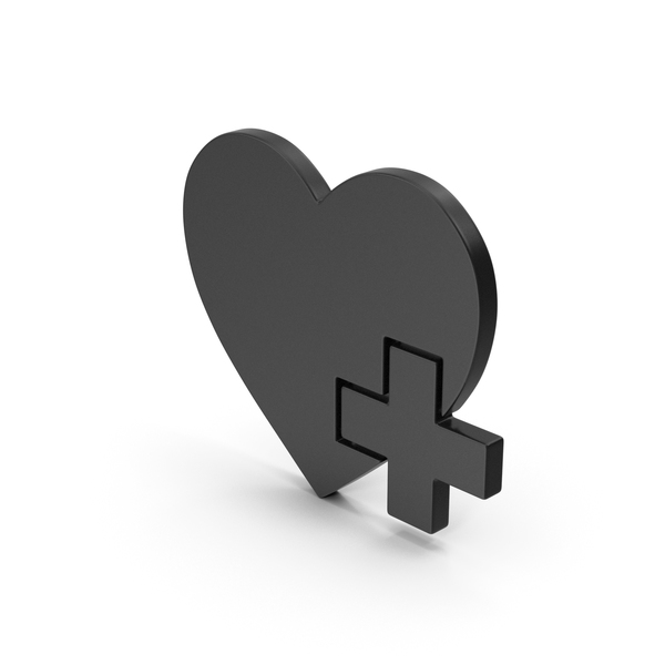Heart Shaped Candy: Symbol Medical Heart Black PNG & PSD Images