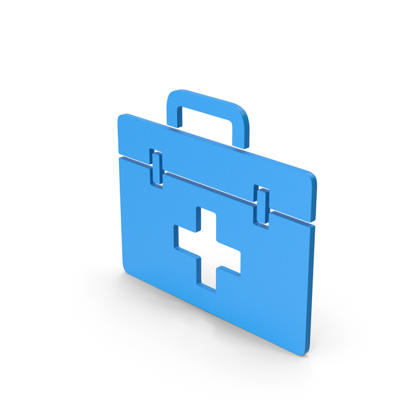 First Aid: Symbol Medical Kit Blue PNG & PSD Images
