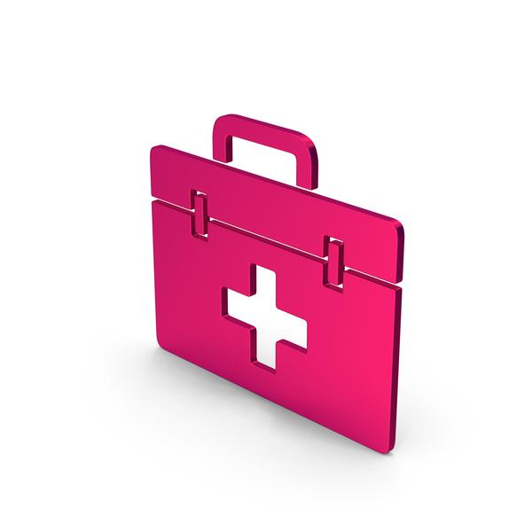 First Aid: Symbol Medical Kit Metallic PNG & PSD Images