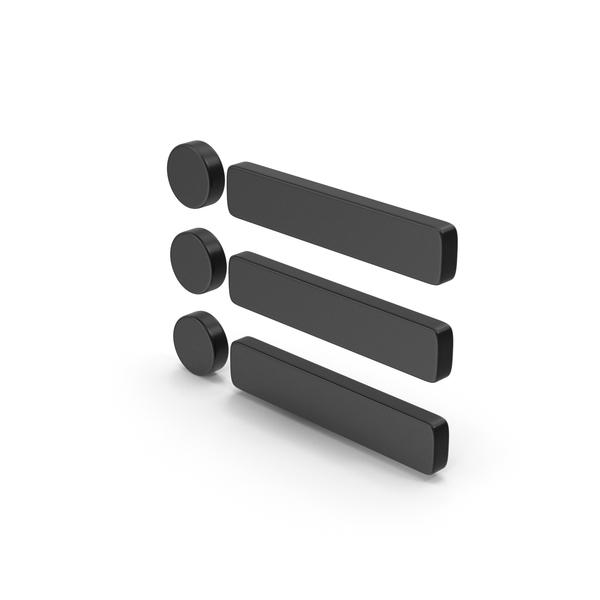 Computer Icon: Symbol Menu Bar Black PNG & PSD Images