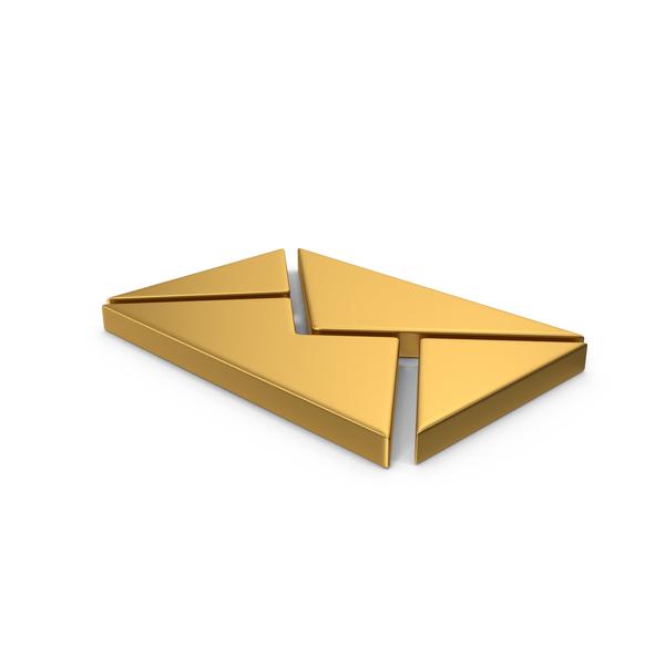 Logo: Symbol Message Gold PNG & PSD Images